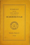 Warrant for the Town Meeting of the Town of Scarborough, Monday, March 10, 1958