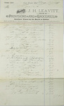 J.H. Leavitt Receipt - May 27, 1889 by J. H. Leavitt