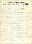 Suffrage Petition Madison Maine, 1917