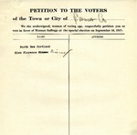 Suffrage Petition New Portland Maine, 1917