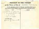 Suffrage Petition Palmyra Maine, 1917