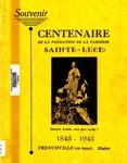 Centenaire de la Fondation de la Paroisse Sainte Luce 1843-1943