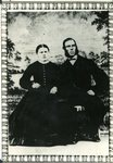 1866 - Wedding photo of Christine Bjorkdahl & Carl Johanson in Sweden;  Immigrated around 1872