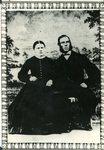 1866 - Wedding photo of Christine Bjorkdahl & Carl Johanson in Sweden; Immigrated around 1872