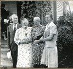 Pastor Wieden, Brita Swenson, Mrs. Wieden and Annie Lindsten