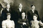 Front Row - Anna Nelson, George Ostlund, Martha Nelson; Back Row George Nelson, John Nelson, Silbert Ostlund