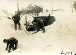 Men digging out the snow plow on South Main hill - 1943