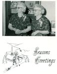 Season's Greetings from Clara (Anderson) Wieden and Lillian (Anderson) Peterson - twin daughters of John & Anna Anderson