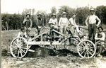 Wagon stuck in the mud on Lake Road - Mattias Anderson, John Lind, John Tall, Olof Anderson, George Wik, Nels Edlund & Swen Englund