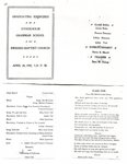 Grammer School Graduation Program- April 26, 1909.  Held at the Swedish Baptist Church.