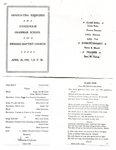 Grammer School Graduation Program- April 26, 1909. Held at the Swedish Baptist Church.