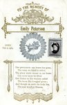 Emily Peterson - Funeral Card