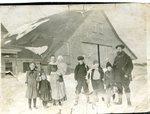 Carl Sandstrom Family - L-R Elsie, Ethal, Anna holding Edith, Fred, Gunnar, Eric & Carl.