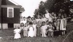 Margaret Wardwell's class in little brown school - late 1940's