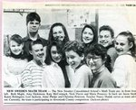 Newspaper clipping - 1993 - New Sweden Math team