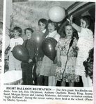 Newspaper clipping - 1993 - First grade - 8 Balloon Recitation