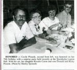 Newspaper clipping - 1993 - Cecile Plourde's 70th birthday with family