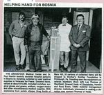 Newspaper clipping - 1993 - Richard Hede - Helping Hand for Bosnia