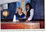 Newspaper clipping - 1993 - Debbie Blanchette and daughter, Kristina wear traditional Swedish dress