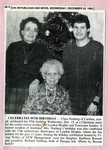 Newspaper clipping - 1993 - Clara Norberg celebrates 95th birthday.