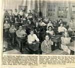 Newspaper clipping - Axel Tall's 7th grade students in 1949