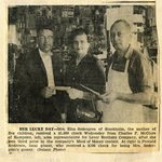 Newspaper clipping - Elna Sodergren winning 3rd prize in Maid of Money contest