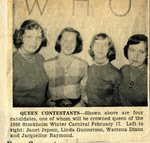 Newspaper clipping - 1958 Winter Carnival Queen contest
