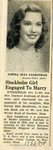Newspaper clipping - Norma Jean Sandstrom's engagement to Gordon Sund