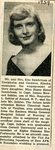 Newspaper clipping - Diane Sandstrom's engagment  to James Sahler