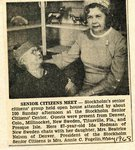 Newspaper clipping - Senior Citizens meet - Ida Hedman & Beatrice Nelson