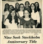 Newspaper clipping -  1971 - Stockholm Anniversary Queen contest