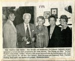 Newspaper clipping - 1981 - Swedish guest L-R; Linda Callison, Mr & Mrs Karl Hockert from Sweden, Helen Borjeson & Rosemary Hede.