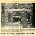 Newspaper clipping - 1986 - Brigade camp dedicated to youth.