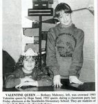 Newspaper clipping - 1993 - Valentine Queen -  Bethany Mahoney & Hope Sund