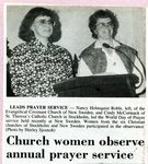 Newspaper clipping - 1993 - Nancy Holmquist Roble & Cindy McCormack - World Day of Prayer