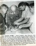 Newspaper clipping - 1993 - Brigade for Mission Work - Derek Campbell, Alton Wardwell & John Hedman