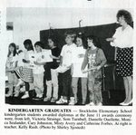 Newspaper clipping - 1993 - Kindergarten graduation