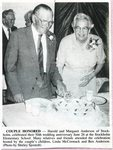 Newspaper clipping - 1993 - Harold & Margaret (Johnson) Anderson's 50th wedding anniversary