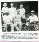 Newspaper clipping - 1993 - Carl & Anna Anderson's family reunion