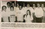 Newspaper clipping - 1993 -    Stockholm American Legion Auxiliary new officers