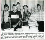 Newspaper clipping - 1993 - Stockholm American Legion Post #136 host bake bean supper for residents.