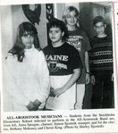 Newspaper clipping - 1993 - Stockholm students perform at All-Aroostook Band