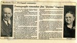 "Newspaper Clipping - Jim ""Joyime"" Gagnon"