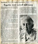 Newspaper Clipping - Annie E. Fogelin