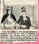 Newspaper Clipping - Carnival King & Queen; Kenneth Corville & Beverly Sodergren