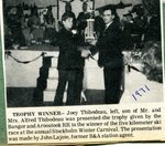 Newspaper Clipping - Trophy Winner, Joey Thibodeau