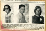 Newspaper Clipping - Eighth Grade Honor parts - L-R Colleen Plourde, Patrick Coville & Lori Sjostedt.