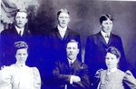 Back Row - John Sjostedt; John Nelson; Sivert Ostlund. Front Row- Martha (Nelson) Osell; George Ostlund, Anna (Nelson) Noren