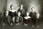 Seated - Carl Forstrom; (Aunt) Eva Forstrom; Louise Forstrom; Gustaf Forstrom; Standing- Annie Forstrom; Edward Forstrom; Ernest Forstrom