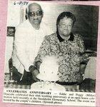 Newspaper Clipping - Eddie & Peggy (Miller) 44th wedding anniversary- June 8, 1994